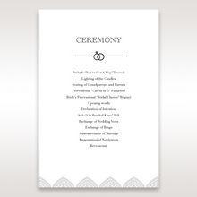 White Everly - Order of Service - Wedding Stationery - 72