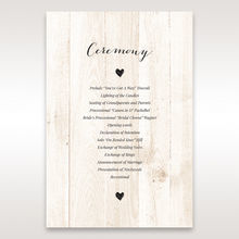 Brown Rustic Woodlands - Order of Service - Wedding Stationery - 73