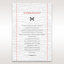 Brown Eternity - Order of Service - Wedding Stationery - 74