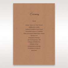 Brown Rustic Romance Laser Cut Sleeve - Order of Service - Wedding Stationery - 2