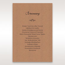 Brown Countryside Chic - Order of Service - Wedding Stationery - 5