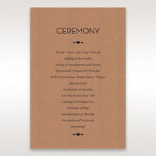 Brown Blissfully Rustic Laser Cut Wrap - Order of Service - Wedding Stationery - 6