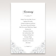 White An Elegant Beginning - Order of Service - Wedding Stationery - 89