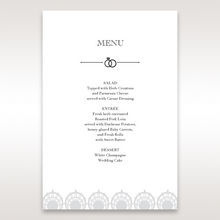 White TrMDitional Romance - Menu Cards - Wedding Stationery - 4