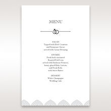 White Everly - Menu Cards - Wedding Stationery - 5