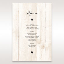 Brown Rustic Woodlands - Menu Cards - Wedding Stationery - 6