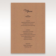 Brown Countryside Chic - Menu Cards - Wedding Stationery - 10