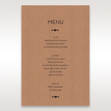 Brown Blissfully Rustic Laser Cut Wrap - Menu Cards - Wedding Stationery - 11
