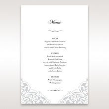 White An Elegant Beginning - Menu Cards - Wedding Stationery - 22