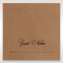 Brown Country Glamour - Place Cards - Wedding Stationery - 36