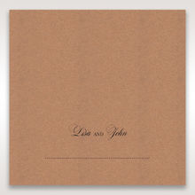 Brown Rustic Romance Laser Cut Sleeve - Place Cards - Wedding Stationery - 12