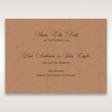 Brown Rustic Romance Laser Cut Sleeve - Save the Date - Wedding Stationery - 17