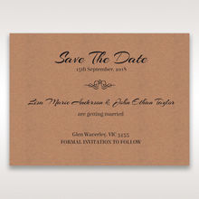Brown Countryside Chic - Save the Date - Wedding Stationery - 20