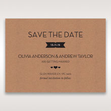 Brown Blissfully Rustic Laser Cut Wrap - Save the Date - Wedding Stationery - 21