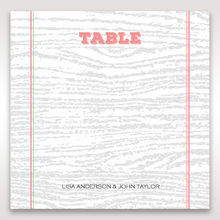 Brown Eternity - Table Number Cards - Wedding Stationery - 6