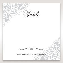 White An Elegant Beginning - Table Number Cards - Wedding Stationery - 21