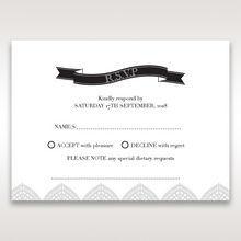 White Everly - RSVP Cards - Wedding Stationery - 37