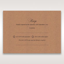 Brown Rustic Romance Laser Cut Sleeve - RSVP Cards - Wedding Stationery - 27
