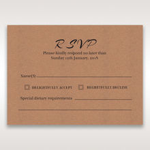 Brown Countryside Chic - RSVP Cards - Wedding Stationery - 30