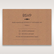 Brown Blissfully Rustic Laser Cut Wrap - RSVP Cards - Wedding Stationery - 31