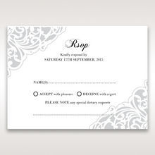 White An Elegant Beginning - RSVP Cards - Wedding Stationery - 54