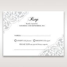 White An Elegant Beginning - RSVP Cards - Wedding Stationery - 54