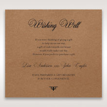 Brown Country Glamour - Wishing Well / Gift Registry - Wedding Stationery - 68