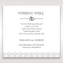 White Traditional Romance - Wishing Well / Gift Registry - Wedding Stationery - 69