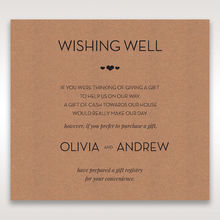 Brown Blissfully Rustic Laser Cut Wrap - Wishing Well / Gift Registry - Wedding Stationery - 36