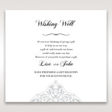 White An Elegant Beginning - Wishing Well / Gift Registry - Wedding Stationery - 87