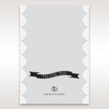 White Everly - Thank You Cards - Wedding Stationery - 3