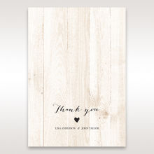 Brown Rustic Woodlands - Thank You Cards - Wedding Stationery - 4