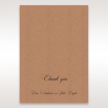 Brown Rustic Laser Cut Pocket with Classic Bow - Thank You Cards - Wedding Stationery - 38