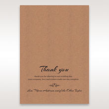 Brown Countryside Chic - Thank You Cards - Wedding Stationery - 40