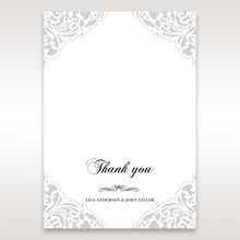 White An Elegant Beginning - Thank You Cards - Wedding Stationery - 20