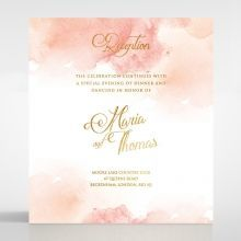 Dusty Rose with Foil reception card DC116125-TR-MG