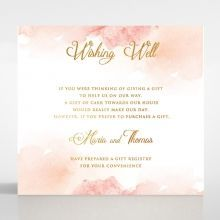 Dusty Rose with Foil wishing well card DW116125-TR-MG