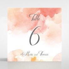Dusty Rose table number card DT116125-YW