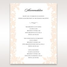 Embossed Floral Frame accommodation card DA15106