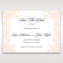 Embossed Floral Frame save the date DS15106