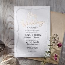 Embossed Frame engagement invitations OWI116025-E