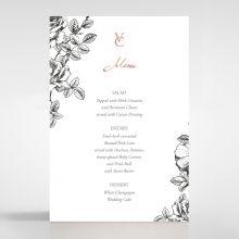 English Rose menu card DM116108-PK