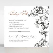 English Rose wishing well card DW116108-PK
