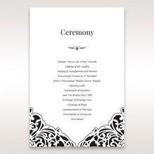 White Jeweled Romance Black Lasercut Pocket - Order of Service - Wedding Stationery - 35