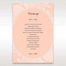 Pink Rustic Garden Laser Cut Pocket - Order of Service - Wedding Stationery - 43