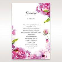 Purple Laser Cut Frame Pocket - Order of Service - Wedding Stationery - 47