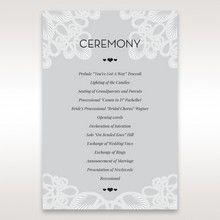 Silver/Gray Elagant Laser Cut Wrap - Order of Service - Wedding Stationery - 54