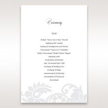 White Black Laser Cut Wrap with Ribbon - Order of Service - Wedding Stationery - 63