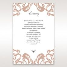 White Elegant Laser Cut Half Pocket with a Bow - Order of Service - Wedding Stationery - 77