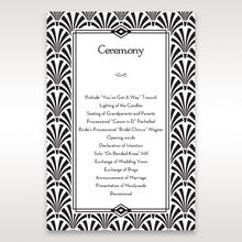 Black Dazzling Silver Foil Stamped - Order of Service - Wedding Stationery - 32